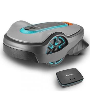 GARDENA robotic lawnmower smart SILENO life(gray / turquoise, 1,250m2, Li-ion battery (2.1Ah))
