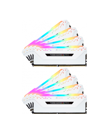 Corsair DDR4 - 64GB -3600 - CL - 18 - Octo kit memory, Vengeance RGB PRO (white, CMW64GX4M8X3600C18W)