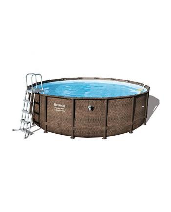 Bestway Power Steel Deluxe Set, ? 488cm x 122cm, swimming pool(brown, with filter pump)