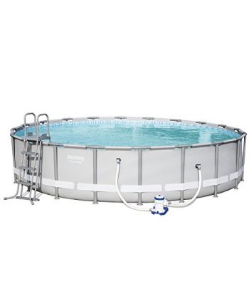 Bestway Power Steel pool kit, O 610cm x 122cm, swimming pool(light gray, with filter pump)