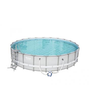 Bestway Power Steel pool kit, O 671cm x 132cm, swimming pool(light gray, with filter pump)