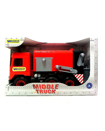 WADER middle truck śmieciarka czerwona 32113