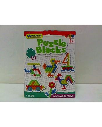 WADER klocki puzzle 40 el.w kartonie 41630