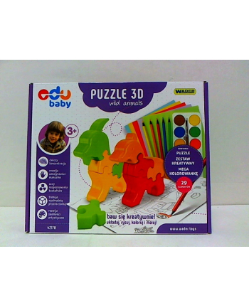WADER puzzle zoo 3D wild animals 4217