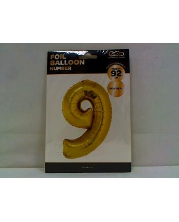 godan Balon foliowy Cyfra9 92cm złota FG-C85Z9         .