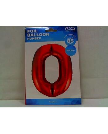 godan Balon foliowy Cyfra0 85cm czerwona BC-HCW0