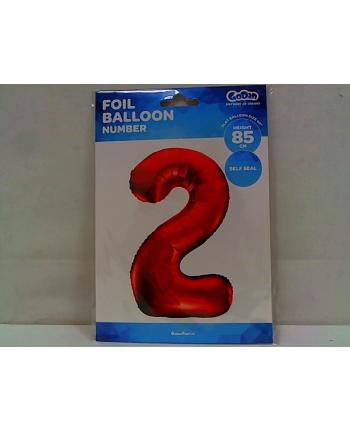 godan Balon foliowy Cyfra2 85cm czerwona BC-HCW2