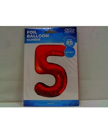 godan Balon foliowy Cyfra5 85cm czerwona BC-HCW5
