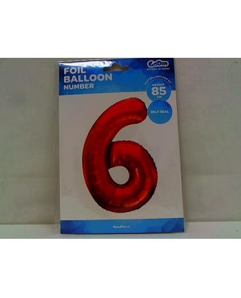godan Balon foliowy Cyfra6 85cm czerwona BC-HCW6