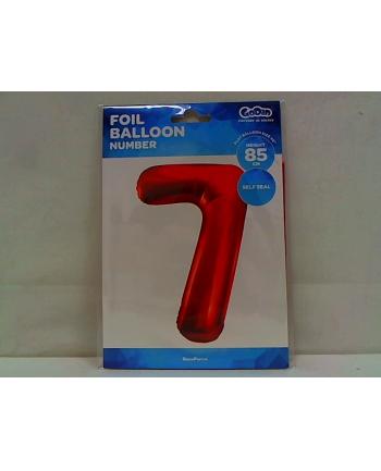 godan Balon foliowy Cyfra7 85cm czerwona BC-HCW7