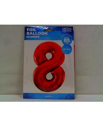 godan Balon foliowy Cyfra8 85cm czerwona BC-HCW8