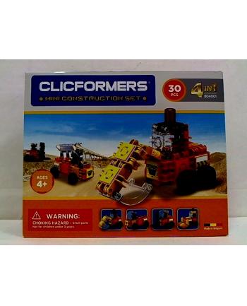 clicformers - klocki CLICS Clicformers 30el Maszyny Bud.4w1 34158