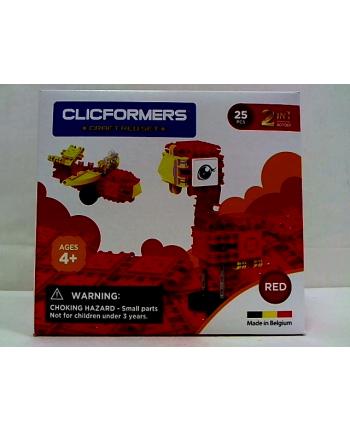 clicformers - klocki CLICS Clicformers Craft set red 25el 35650