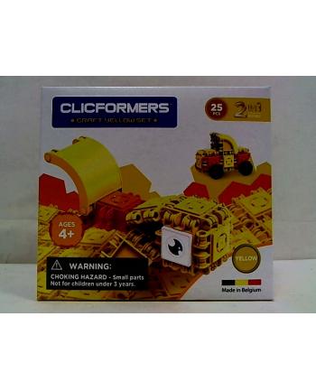 clicformers - klocki CLICS Clicformers Craft set yellow 25el 35667