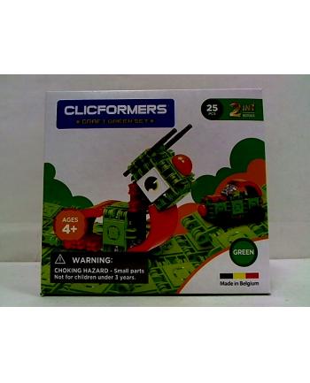 clicformers - klocki CLICS Clicformers Craft set green 25el 35674