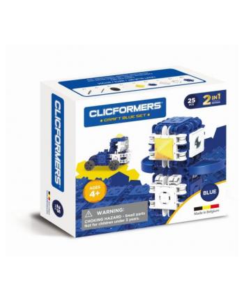 clicformers - klocki CLICS Clicformers Craft set blue 25el 35681
