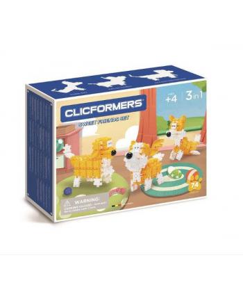 clicformers - klocki CLICS Clicformers 74el set Yellow&white 35735