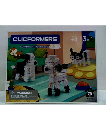 clicformers - klocki CLICS Clicformers 74el set Black&white 35742