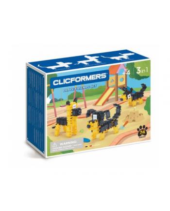 clicformers - klocki CLICS Clicformers 74el set Black&yellow 35759