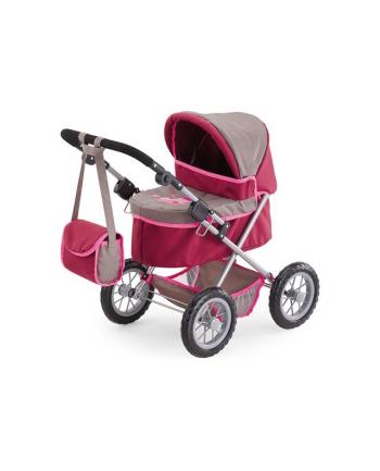 BAYER Wózek głęboki Trendy c.róż-szary 13078