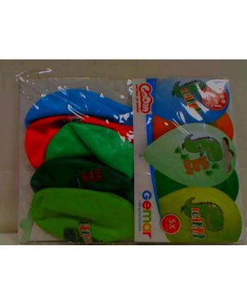 godan Balony Premium Hel Let's Dino Party13''/5 GS120/854