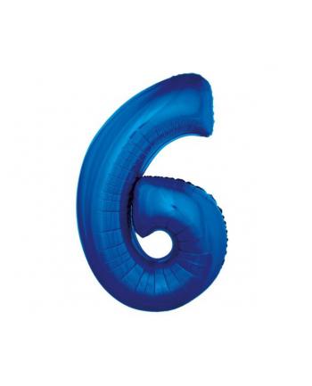 """godan Balon foliowy """"Cyfra 6"""", niebieska, 92 cm"""