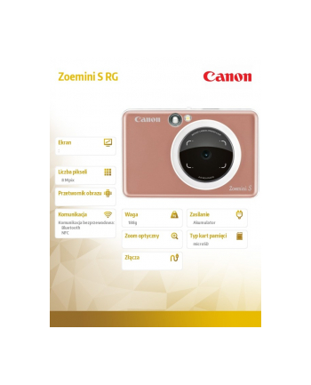 canon Aparat z funkcją drukowania Zoemini S RG 3879C007