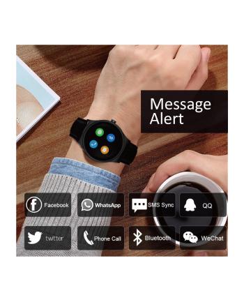 maclean NanoRS RS100 Smartwatch inteligentny zegarek bluetooth, heart rate czarny