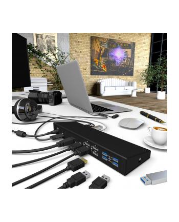 IcyBox Stacja Dokująca USB Type-C, 2xDP, 2xHDMI