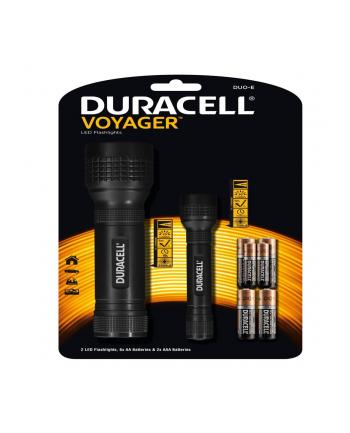 duracell Latarka LED Vyager Duo-E Zestaw 2 szt. gumowy uchwyt + 6XAA