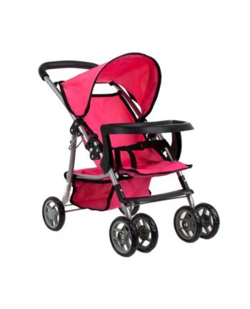 euro-trade Wózek dla lalek spacerówka metalowy 9304BWT MC