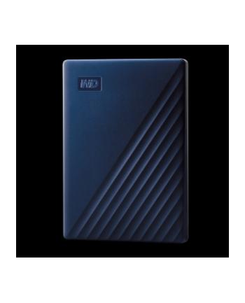 western digital Dysk zewnętrzny WD My Passport for Mac, 2.5'', 4TB, USB 3.1, niebieski
