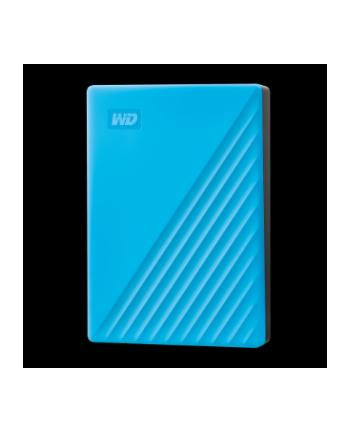 western digital Dysk zewnętrzny WD My Passport, 2.5'', 4TB, USB 3.2, niebieski