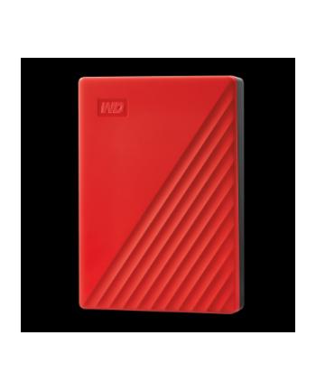western digital Dysk zewnętrzny WD My Passport, 2.5'', 4TB, USB 3.2, czerwony