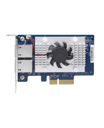 Qnap Dual-port BASET 10GbE network expansion card; low-profile form factor; PCIe