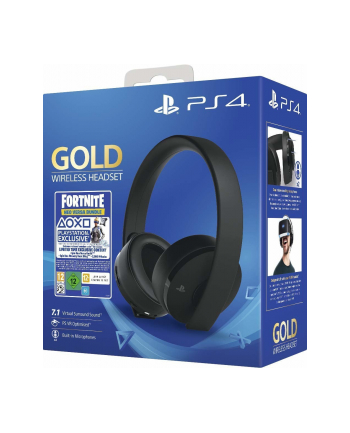 sony PS4 Gold Wireless 7.1 Gaming Headset + Fortnite