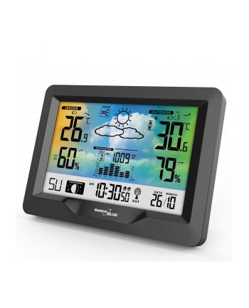 GreenBlue GB540 Stacja pogody bezprzewodowa kolorowa z systemem DCF, barometr