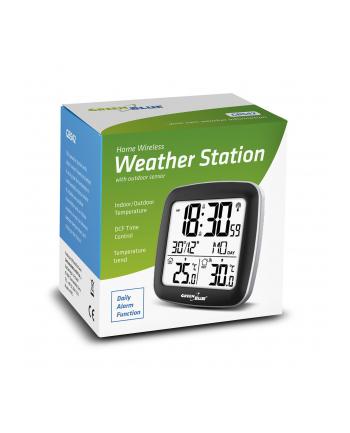 GreenBlue GB542 Stacja pogody bezprzewodowa z systemem DCF kalendarz, alarm