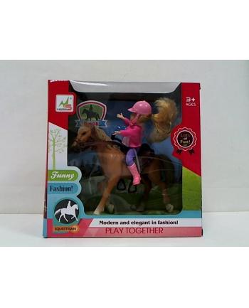 gazelo Lalka z koniem G103916 01560
