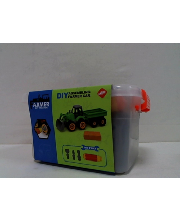madej Traktor z przyczepą do skręcania box 001562 49188