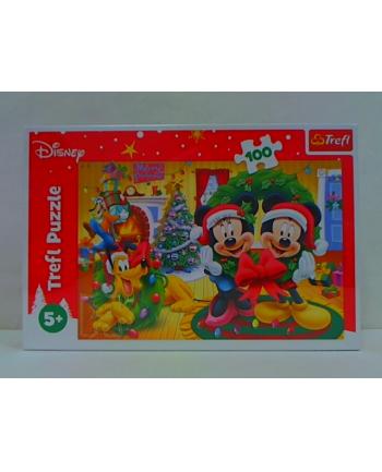 trefl Puzzle 100 Magia Świąt Mickey Mouse /Disney 16365