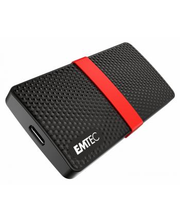 Emtec X200 Portable SSD 128 GB Solid State Drive(Black / Red, USB 3.2 C (5 Gbit / s))