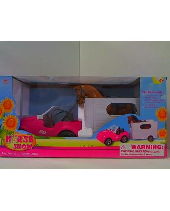 kris-taem Auto z przyczepą z koniem dla lalki 00415