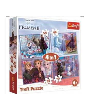 trefl Puzzle 4w1 Podróż w nieznane/ Disney Frozen2 34323