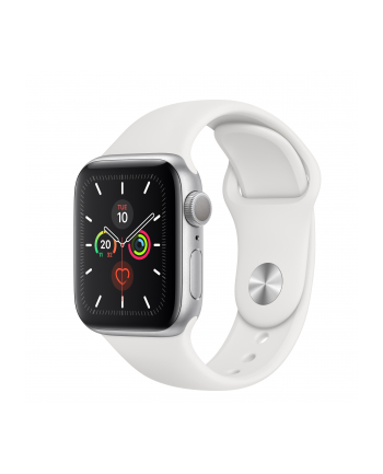 Apple Watch S5 Aluminum 40mm silver - Sport bracelet white MWV62FD / A