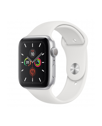 Apple Watch S5 aluminum 44mm silver - Sport bracelet white MWVD2FD / A