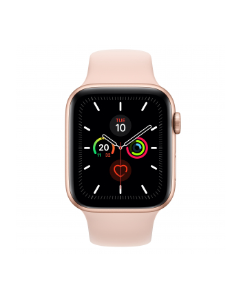 Apple Watch S5 aluminum 44mm gold - Sports bracelet sandrosa MWVE2FD / A