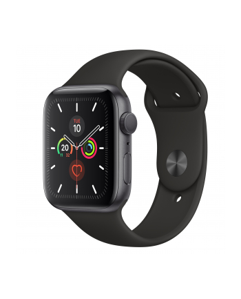 Apple Watch S5 aluminum 44mm grey - Sports Wristband black MWVF2FD / A