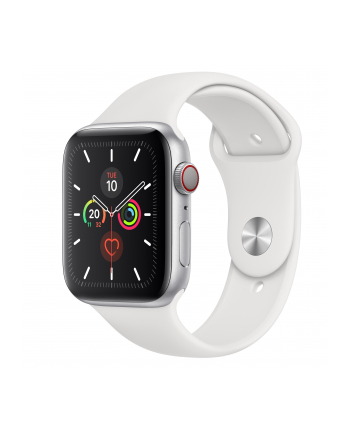 Apple Watch S5 Aluminum 44mm silver - Sport bracelet white MWWC2FD / A