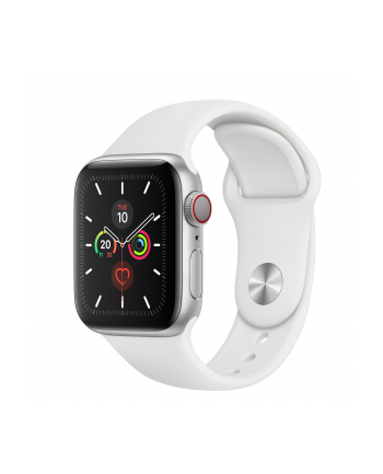 Apple Watch S5 Aluminum 40mm silver - Sport bracelet white MWX12FD / A